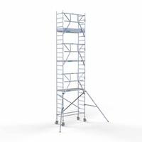 Euroscaffold Rolsteiger Compleet  75 x 190 x 8,2m werkhoogte + enkele voorloopleuning