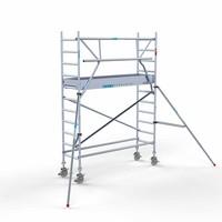 Euroscaffold Rolsteiger Compleet  75 x 250 x 4,2m werkhoogte + enkele voorloopleuning