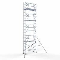 Euroscaffold Rolsteiger Compleet  75 x 250 x 10,2m werkhoogte + enkele voorloopleuning