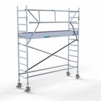 Euroscaffold Rolsteiger Compleet  75 x 305 x 4,2m werkhoogte + enkele voorloopleuning