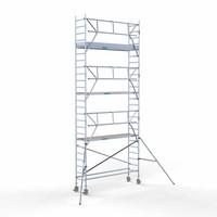 Euroscaffold Rolsteiger Compleet  75 x 305 x 8,2m werkhoogte + enkele voorloopleuning