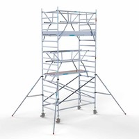 Euroscaffold Rolsteiger Compleet 135 x 250 x 6,2m werkhoogte + dubbele voorloopleuning incl. carbon decks
