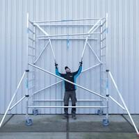 Euroscaffold Rolsteiger Compleet 135 x 250 x 7,2m incl. lichtgewicht platform + dubbele voorloopleuning