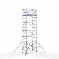 Euroscaffold Rolsteiger Compleet 135 x 250 x 9,2m incl. lichtgewicht platform + dubbele voorloopleuning