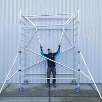 Euroscaffold Rolsteiger Compleet 135 x 250 x 10,2m incl. lichtgewicht platform + dubbele voorloopleuning