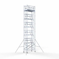 Euroscaffold Rolsteiger Compleet 135 x 250 x 12,2m incl. lichtgewicht platform + dubbele voorloopleuning