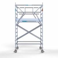 Euroscaffold Rolsteiger Compleet 135 x 190 x 4,2m incl. lichtgewicht platform + dubbele voorloopleuning