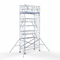 Euroscaffold Rolsteiger Compleet 135 x 305 x 8,2m incl. lichtgewicht platform + dubbele voorloopleuning