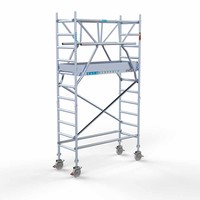 Euroscaffold Rolsteiger Compleet 75 x 190 x 4,2m incl. lichtgewicht platform + dubbele voorloopleuning