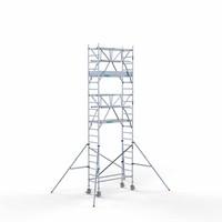 Euroscaffold Rolsteiger Compleet 75 x 190 x 7,2m incl. lichtgewicht platform + dubbele voorloopleuning