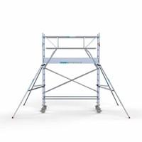 Euroscaffold Rolsteiger Compleet 75 x 250 x 4,2m incl. lichtgewicht platform + dubbele voorloopleuning