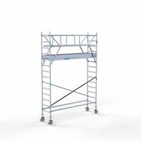 Euroscaffold Rolsteiger Compleet 75 x 305 x 5,2m incl. lichtgewicht platform + dubbele voorloopleuning