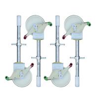 Euroscaffold Rolsteiger Compleet 75 x 305 x 8,2m incl. lichtgewicht platform + dubbele voorloopleuning
