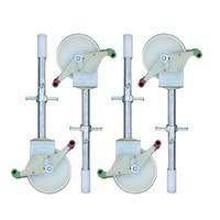Euroscaffold Rolsteiger Compleet  75 x 190 x 5,2m werkhoogte incl. lichtgewicht platform + enkele voorloopleuning