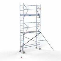 Euroscaffold Rolsteiger Compleet  75 x 250 x 6,2m werkhoogte incl. lichtgewicht platform + enkele voorloopleuning