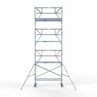 Euroscaffold Rolsteiger Compleet  75 x 250 x 8,2m werkhoogte incl. lichtgewicht platform + enkele voorloopleuning