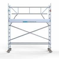 Euroscaffold Rolsteiger Compleet  75 x 305 x 4,2m incl. lichtgewicht platform + enkele voorloopleuning