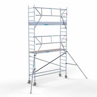 Euroscaffold Rolsteiger Compleet  75 x 305 x 6,2m werkhoogte incl. lichtgewicht platform + enkele voorloopleuning