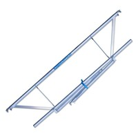 Euroscaffold Rolsteiger Compleet  75 x 305 x 8,2m werkhoogte incl. lichtgewicht platform + enkele voorloopleuning