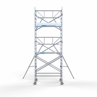 Euroscaffold Rolsteiger Compleet met enkele voorloopleuning 135 x 190 x 6,2m met lichtgewicht platform
