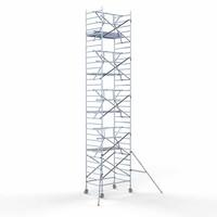 Euroscaffold Rolsteiger Compleet  135 x 190 x 10,2m werkhoogte incl. lichtgewicht platform + enkele voorloopleuning