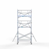 Euroscaffold Rolsteiger Compleet  135 x 250 x 7,2m werkhoogte incl. lichtgewicht platform + enkele voorloopleuning