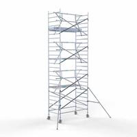 Euroscaffold Rolsteiger Compleet  135 x 250 x 8,2m werkhoogte incl. lichtgewicht platform + enkele voorloopleuning