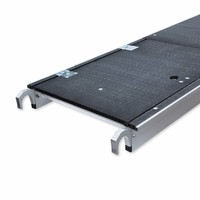 Euroscaffold Rolsteiger Compleet met enkele voorloopleuning 135 x 305 x 4,2m met lichtgewicht platform