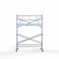 Euroscaffold Rolsteiger Compleet met enkele voorloopleuning 135 x 305 x 5,2m met lichtgewicht platform