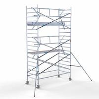 Euroscaffold Rolsteiger Compleet met enkele voorloopleuning 135 x 305 x 6,2m met lichtgewicht platform