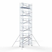 Euroscaffold Rolsteiger Compleet  135 x 305 x 12,2m werkhoogte incl. lichtgewicht platform + enkele voorloopleuning