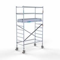 Euroscaffold Rolsteiger Compleet 90 x 190 x 4,2m werkhoogte met lichtgewicht platform