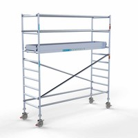 Euroscaffold Rolsteiger Compleet 90 x 305 x 4,2m werkhoogte met lichtgewicht platform