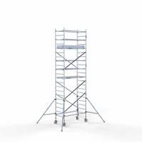 Euroscaffold Rolsteiger Compleet 90 x 190 x 7,2m werkhoogte met lichtgewicht platform