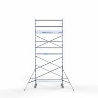 Euroscaffold Rolsteiger Compleet 90 x 250 x 7,2m werkhoogte met lichtgewicht platform