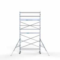 Euroscaffold Rolsteiger Compleet 90 x 305 x 7,2m werkhoogte met lichtgewicht platform