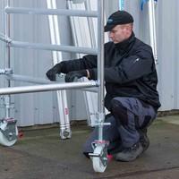 Euroscaffold Rolsteiger 90x250x12,2m werkhoogte incl carbon decks