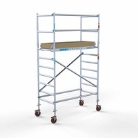 Euroscaffold Basis rolsteiger 90 x 190 x 4,2m werkhoogte met lichtgewicht platform