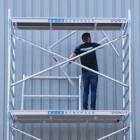 Euroscaffold Basis rolsteiger 135 x 250 x 8,2m werkhoogte met lichtgewicht platform