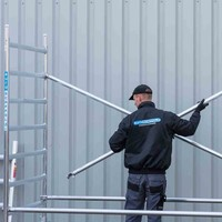 Euroscaffold Rolsteiger Compleet 75 x 190 x 4,2m werkhoogte met lichtgewicht platform