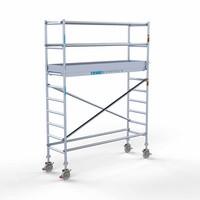 Euroscaffold Rolsteiger Compleet 75 x 250 x 4,2m werkhoogte met lichtgewicht platform