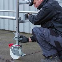 Euroscaffold Rolsteiger Compleet 75 x 305 x 6,2m werkhoogte met lichtgewicht platform