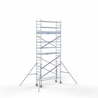 Euroscaffold Rolsteiger Compleet 75 x 250 x 7,2m werkhoogte met lichtgewicht platform