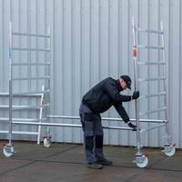 Euroscaffold Rolsteiger Compleet 75 x 305 x 7,2m werkhoogte met lichtgewicht platform