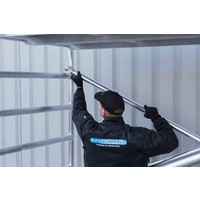 Euroscaffold Rolsteiger Compleet 75 x 305 x 8,2m werkhoogte met lichtgewicht platform