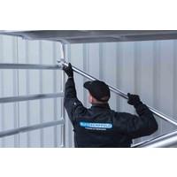 Euroscaffold Rolsteiger Compleet 75 x 190 x 9,2m werkhoogte met lichtgewicht platform