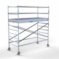 Euroscaffold Rolsteiger Compleet 135 x 305 x 4,2m werkhoogte met lichtgewicht platform