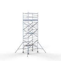 Euroscaffold Rolsteiger Compleet 135 x 190 x 7,2m werkhoogte met lichtgewicht platform