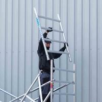 Euroscaffold Rolsteiger Compleet 135 x 305 x 7,2m werkhoogte met lichtgewicht platform