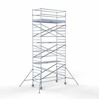 Euroscaffold Rolsteiger Compleet 135 x 190 x 8,2m werkhoogte met lichtgewicht platform